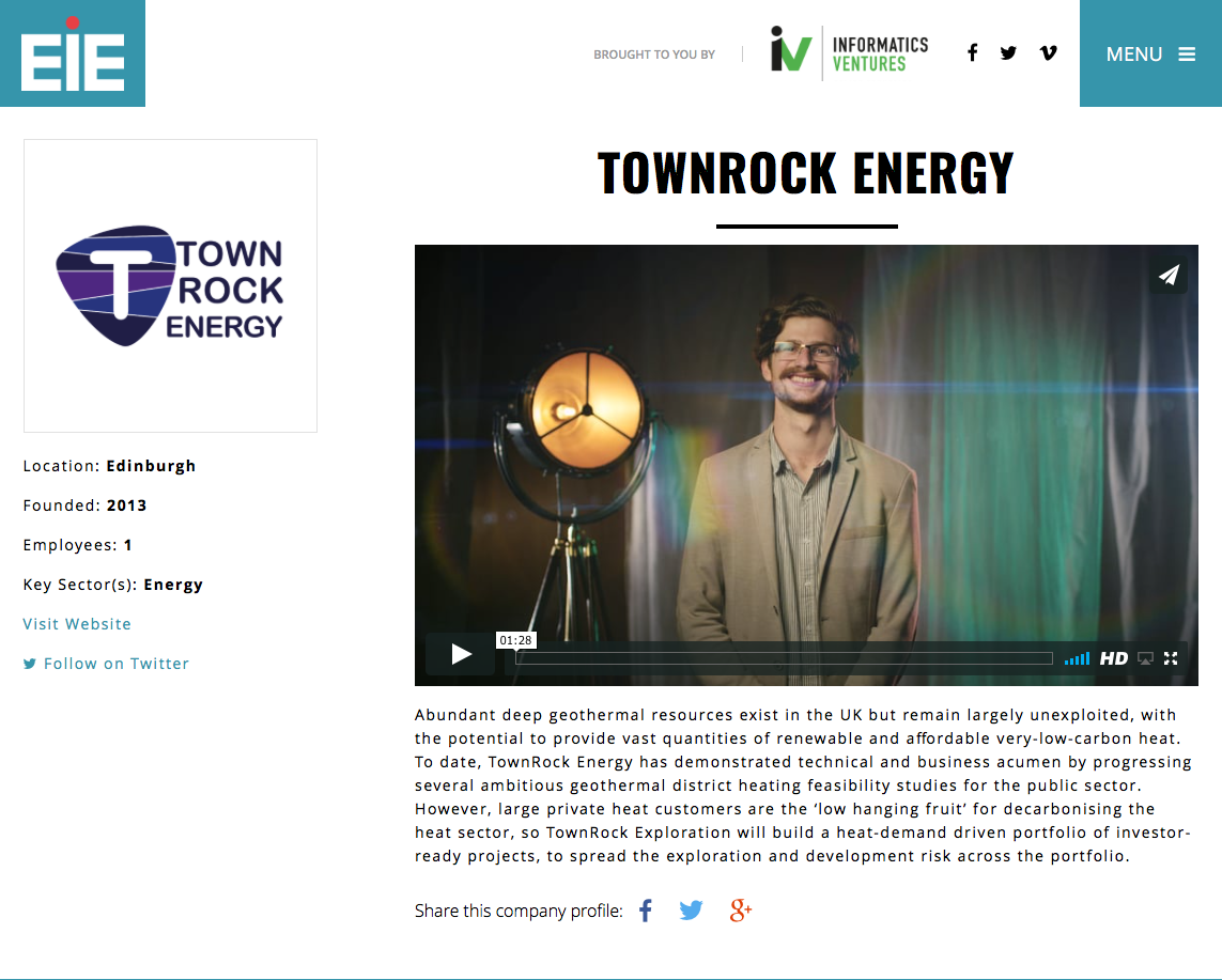 EIE pitch video TownRock Energy - Beyongolia Productions